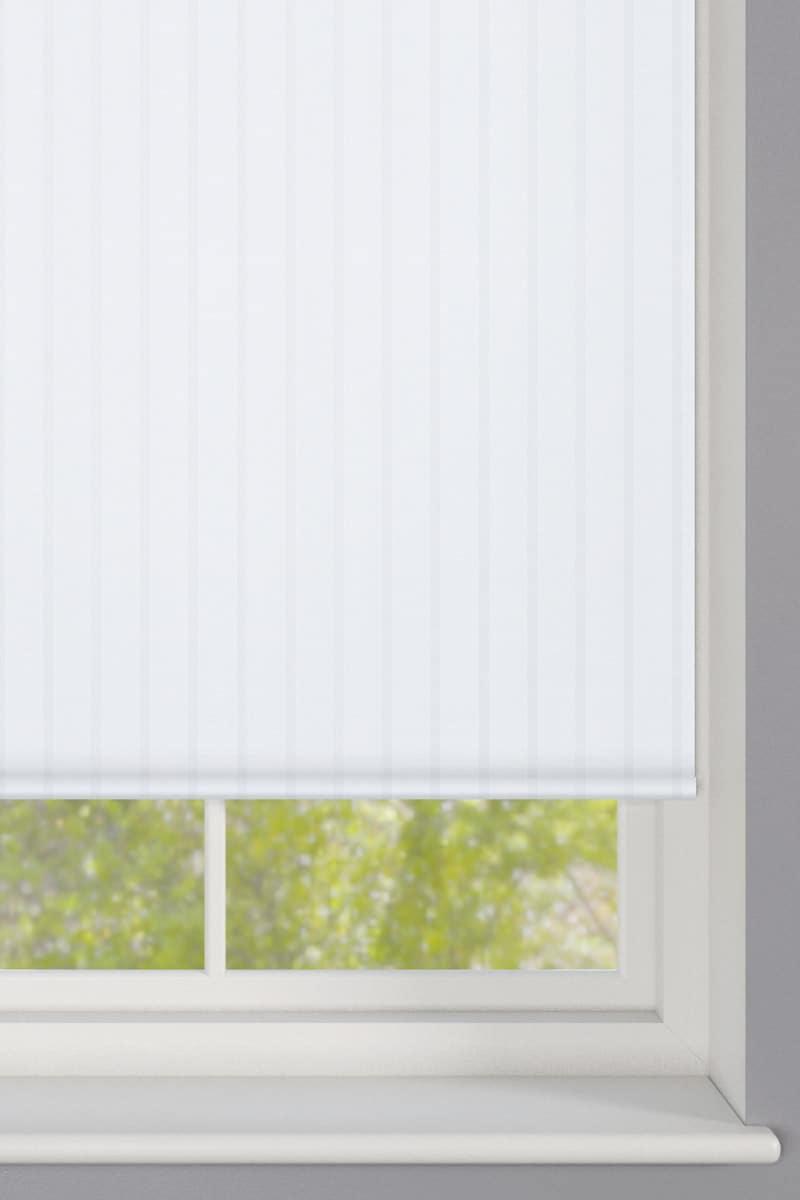 Sheer White Striped Roller Blind Cheapest Blinds Uk Ltd