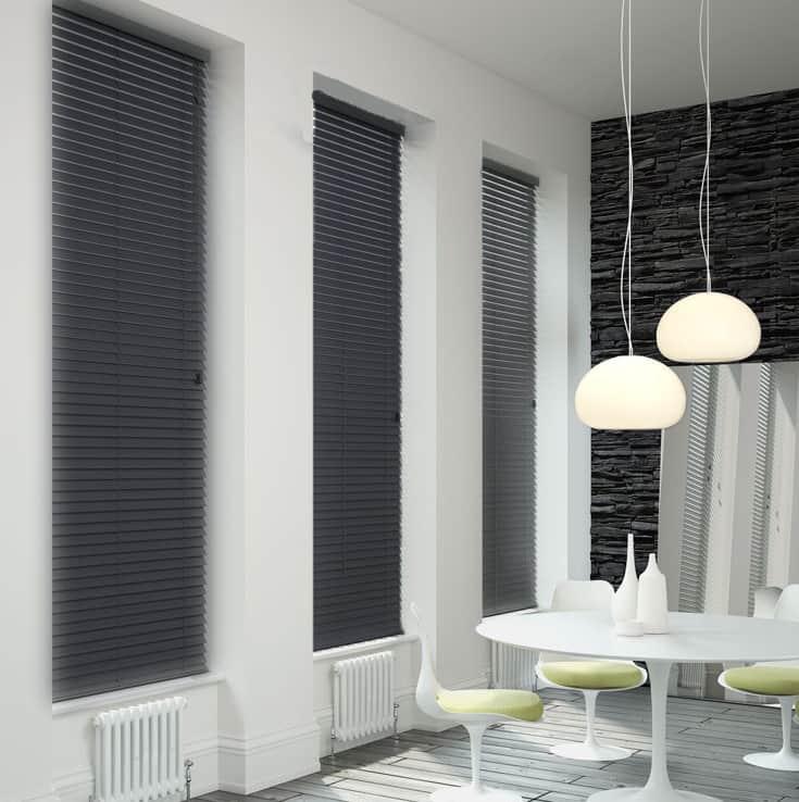 dark life bermuda vertical post by blinds grey blackout blind