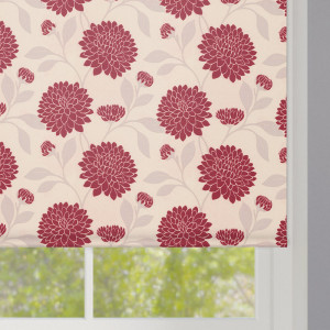 Bloom Rouge Roller Blind