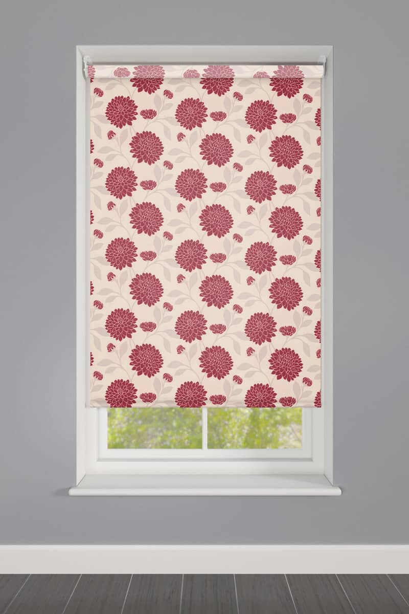 Cheapest Blinds Uk Ltd Bloom Rouge Roller Blind