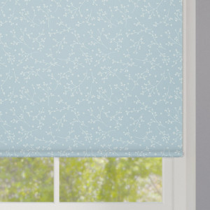 Nina Duck Egg Patterned Roller Blind