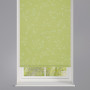 Reflection Olivine Patterned Roller Blind