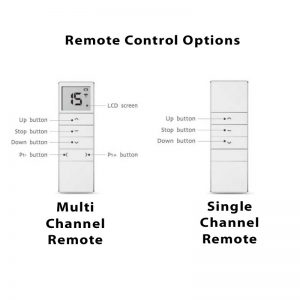 remote control options for skylight blinds