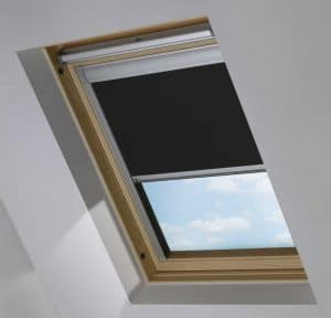 Black OKPOL Roof Skylight Blind