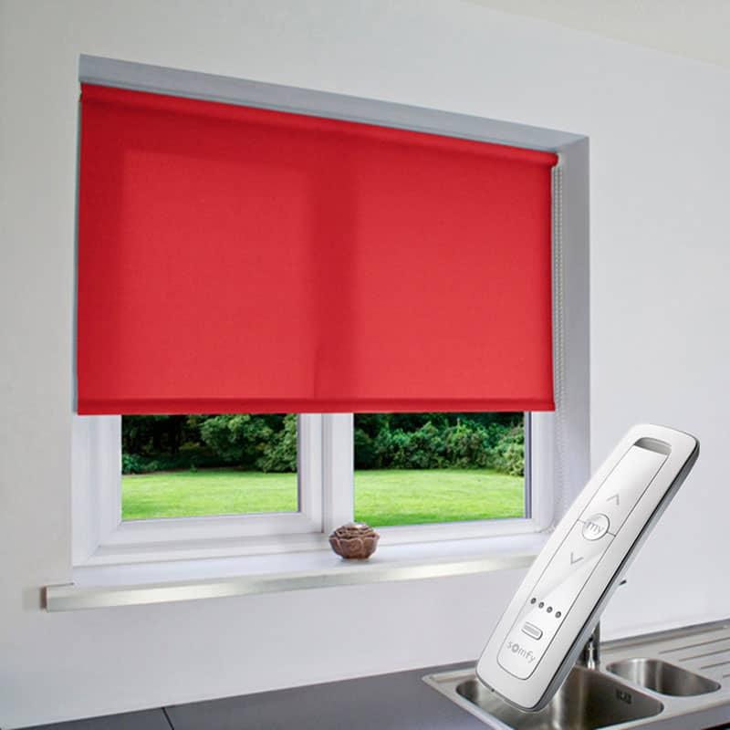 Cheapest Blinds Uk Ltd Motorised Electric Bright Red