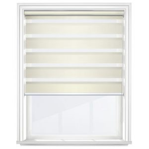 Cream Day and Night Blinds Open