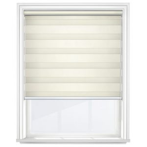 Cream Day and Night Blinds Closed