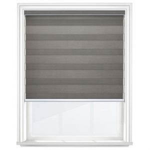 Dark Grey Day and Night Blinds Closed
