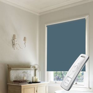 dark sage green electric motorised remote control roller blinds