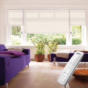 magnolia electric motorised remote control roller blinds