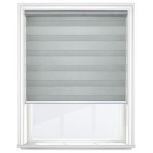 Medium Grey Day and Night Blinds Closed