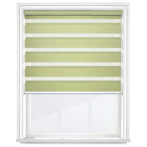 Pistachio Day and Night Blinds Open
