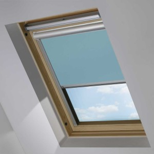 Sky Blue Motorised Electric Solar Powered Remote Control Skylight Blinds