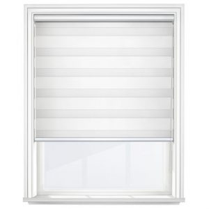 Soft White Day & Night Blinds Closed