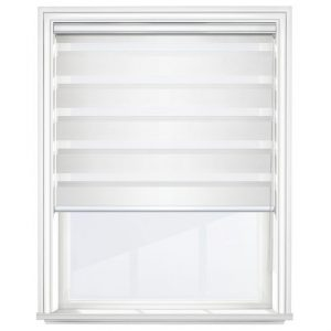 Soft White Day & Night Blinds Open