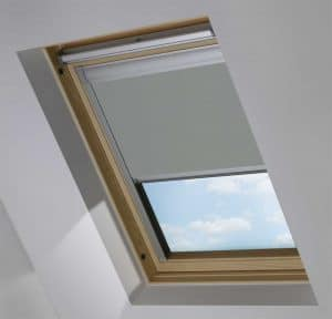 Dark Grey Dakea Skylight Roof Blind