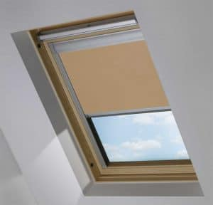 Cheap Light Brown Dakea Skylight Roof Blind