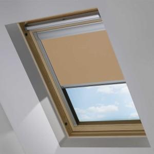 Cheap Light Brown Dakea Skylight Roof Blind