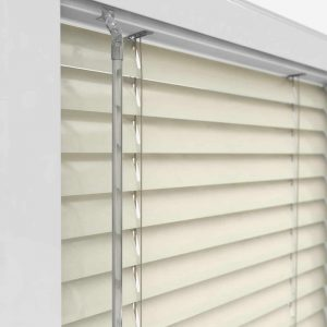 White UPVC Perfect Fit Blind Controls Close Up