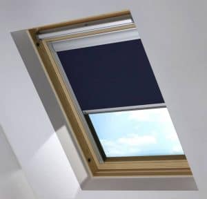 navy blue dakea skylight blind