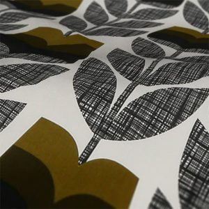 Orla Kiely Rosebud Roman Blind Moss Fabric Sample