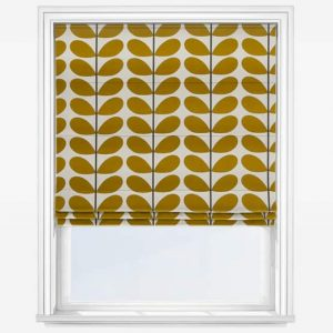 Orla Kiely Two Colour Stem Olive Fabric Roman Blind