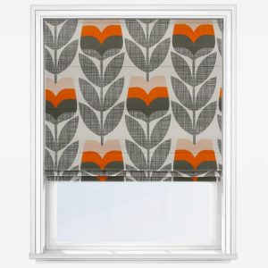 Orla Kiely Orange Rosebud Roman Blind