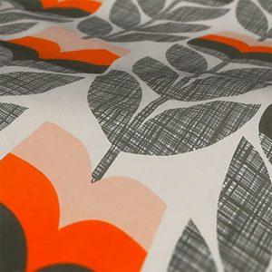 Orla Kiely Orange Rosebud Roman Blind Fabric Sample