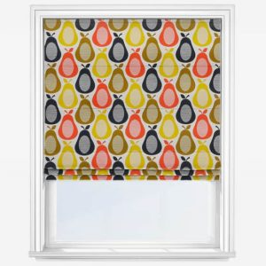 Orla Kiely scribble pear multi roman blind