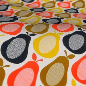 Orla Kiely scribble pear multi roman blind fabric sample