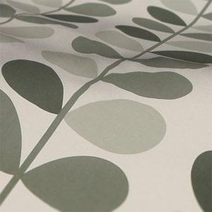 Orla Kiely Warm Grey Multi Stem Roman Blind Fabric Sample